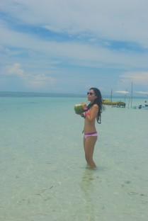 Coco hydrating in Bohol