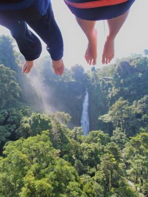 Ziplining over seven waterfallls
