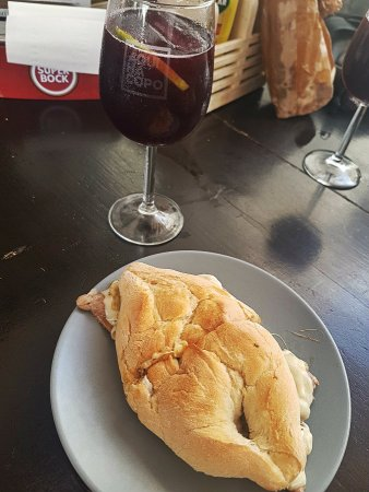 Steak sandwich and sangria anytime!!