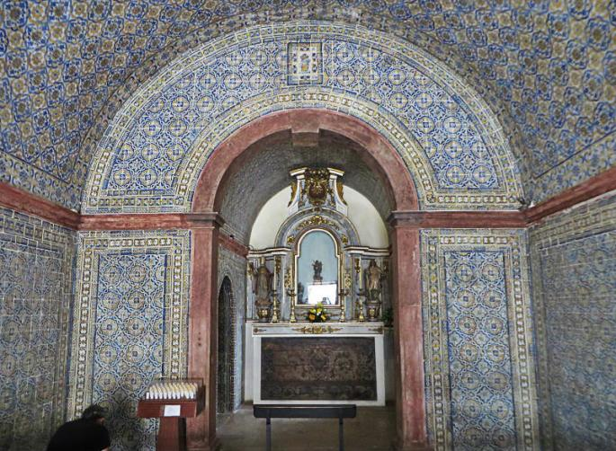 Tile covered chapel
