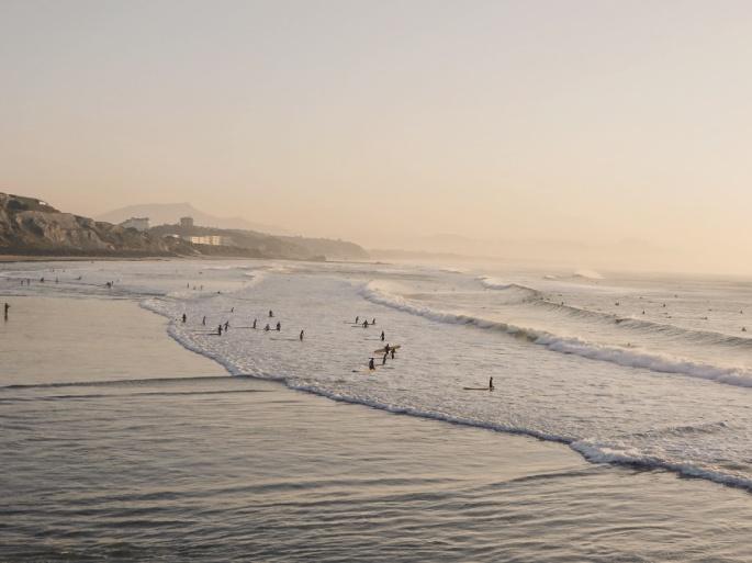 Surfers at Cote Basque