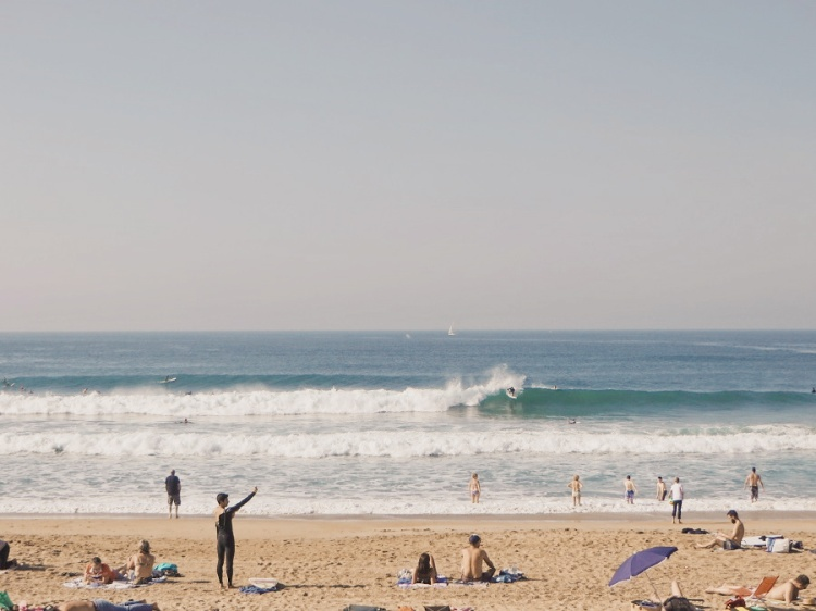 Surfers at the Grande Plage