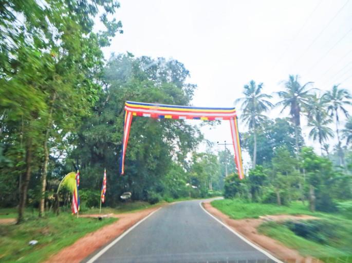 Empty roads in Sri Lanka