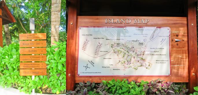 Map of Centara Ras resort