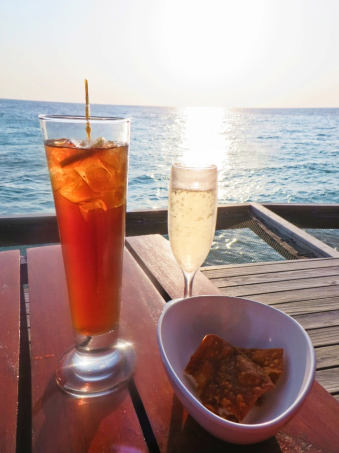 Sunset cocktails in Centara
