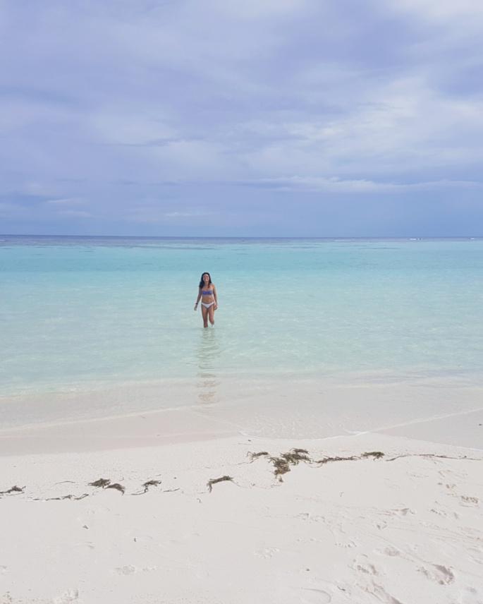 swimming empty beaches