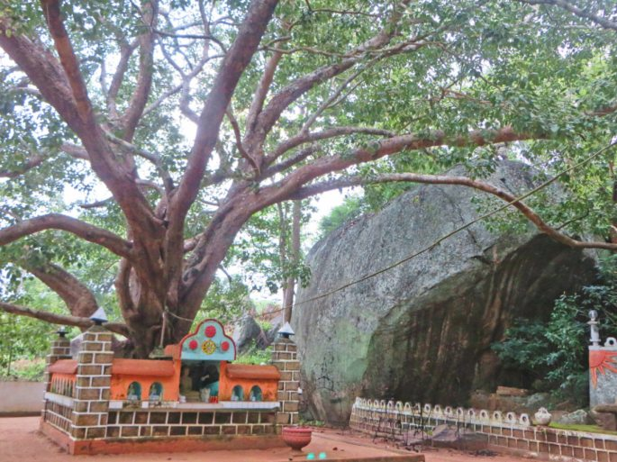 temple at foot of rock