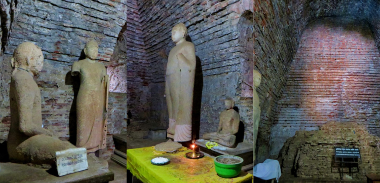 different views of the temple including different statues of Lord Buddha