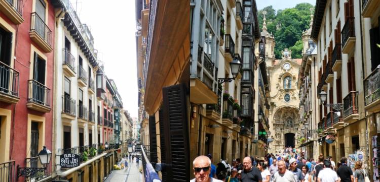 San Sebastian streets collage