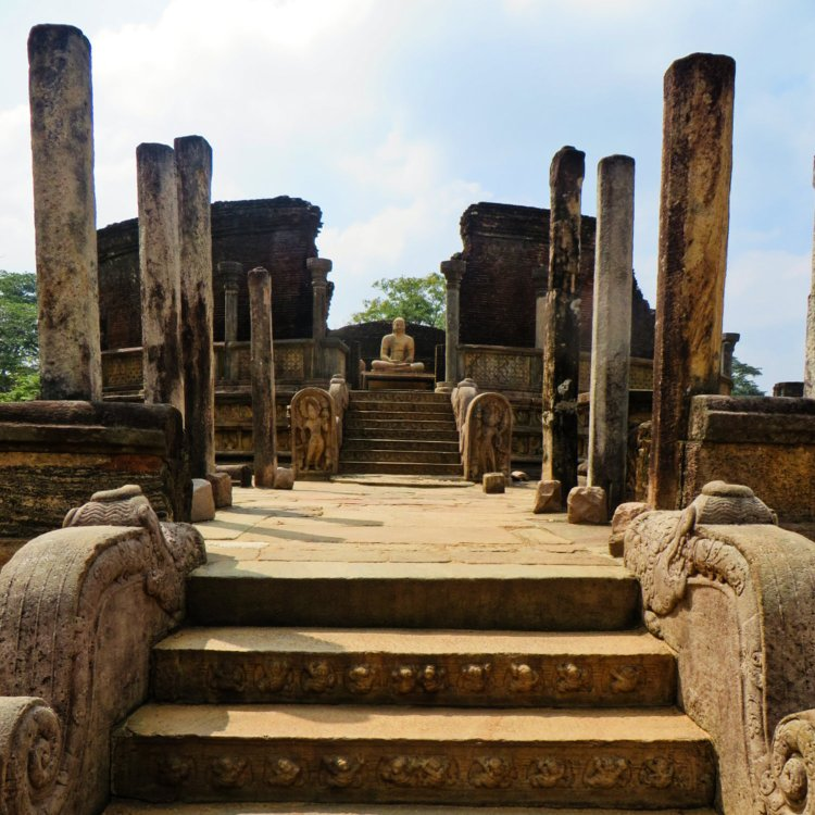 The Polonnaruwa Vatadage, a structure that enshrined sacred Buddha relics