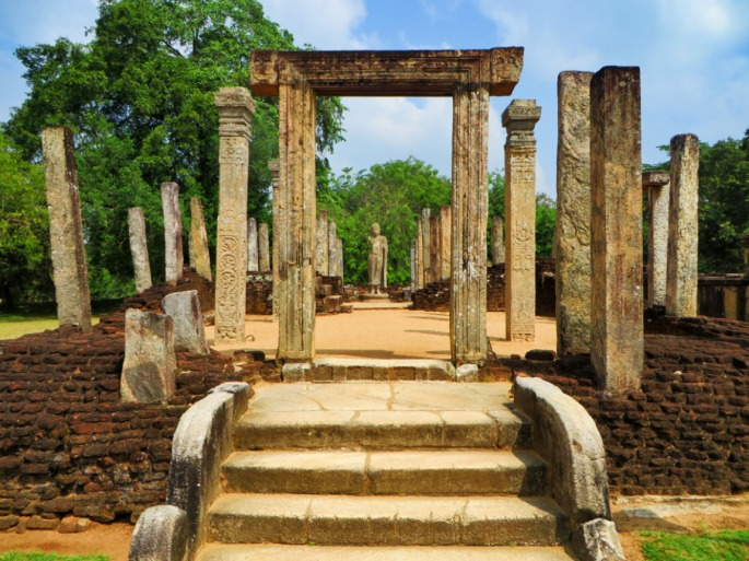 the atadage is the oldest building in the sacred quadrangle of Polonnaruwa