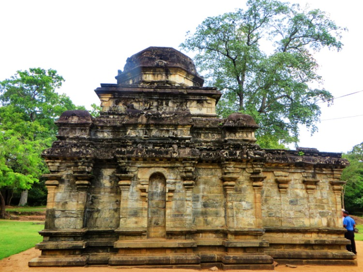 Shiva Devale no 2 is a stone temple and the oldest building in Polonnaruwa