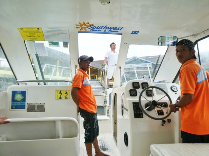 The crew and captain of the speedboat