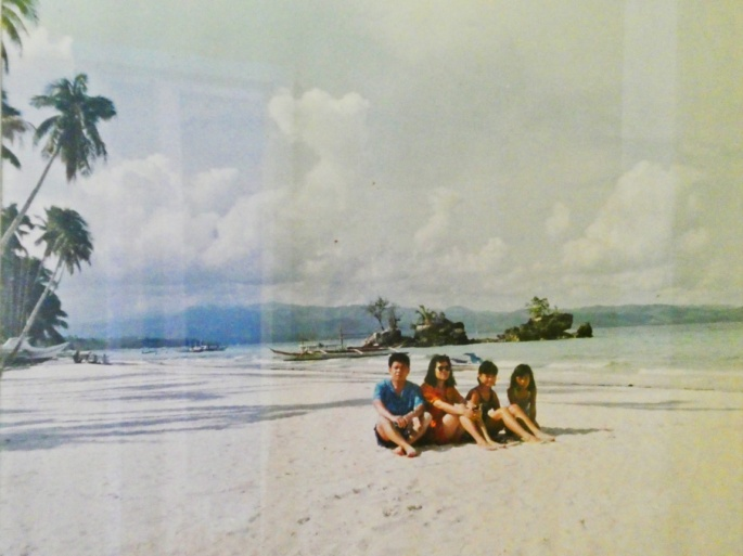 shot of a family photo in a frame